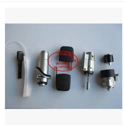 Ensemble cylindre de verrouillage de véhicule entier (comprend porte + allumage + serrure de coffre arrière) pour AUDI A6 C5 2000-2004