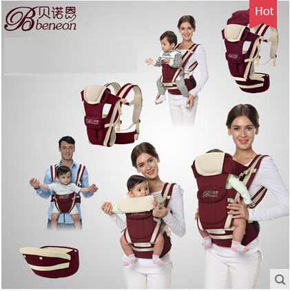 100% Cotton 3 in1 Baby Carrier Hipseat 4-ways Kangaroo Baby Backpack Sling for 0-36 Months Portabebe Mochila