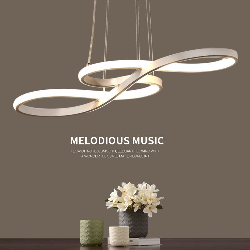 Length 1250/750mm Modern Led Hanging Chandelier For Dining Kitchen Room Bar Suspension luminaire Pendant Chandeliers AC85-265V