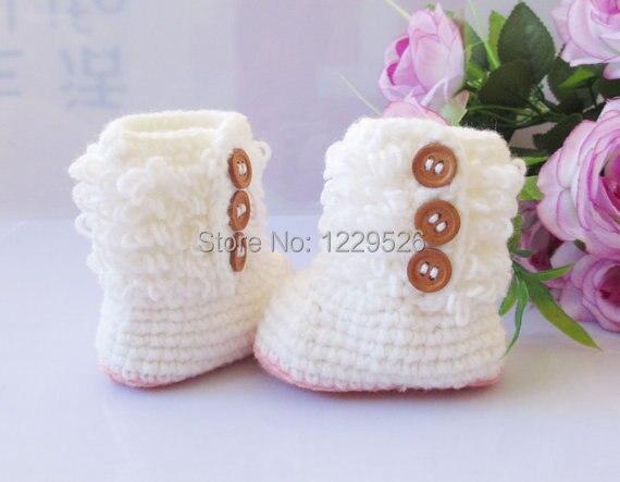 Zapatos de bebé blanco ganchillo bebé botas botines zapatos del niño zapatos  recién nacidos hasta 12 meses bbc796a241ca