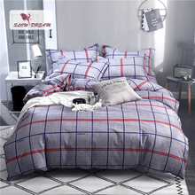 Slowdream Stripe Simple Style Bedding Set Nordic Comfort Bed Linings Flat Sheet And Pillowcases Home Textiles Duvet Cover