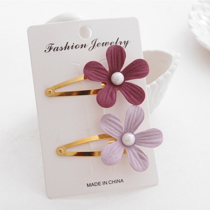 2Pcs Kids Girls Pearl Flower Hair Clip Girls Kids Hairpin Accessories For Children Hair Barrette Hairclip Headdress Headwear in Hair Accessories from Mother Kids