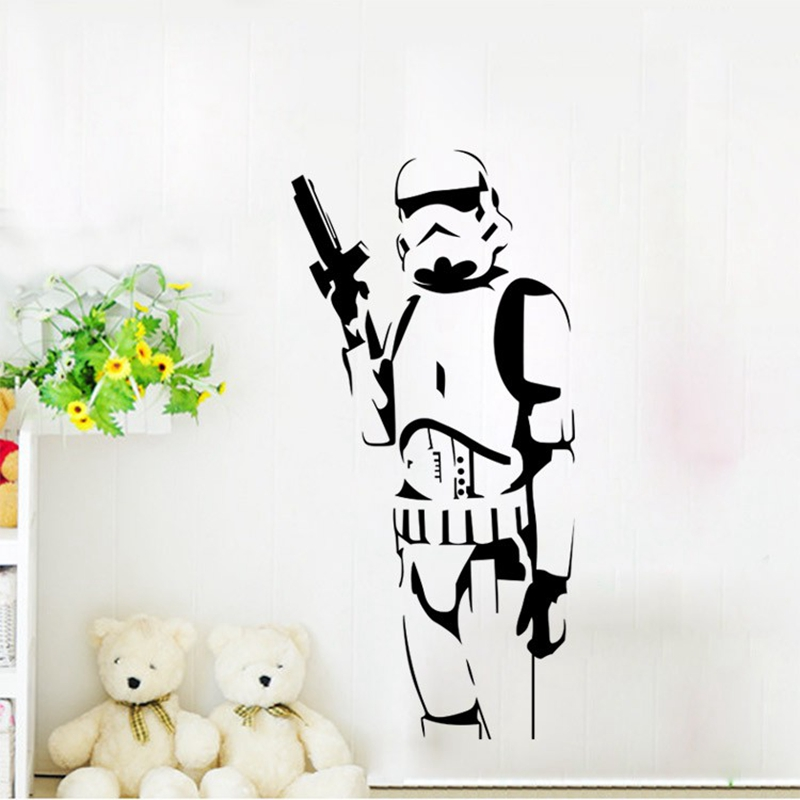 Cartoon Wall Stickers for Kids Room DIY Star Wars Character Wall Stickers Suitable for The Living Room Home Decor Art Posters