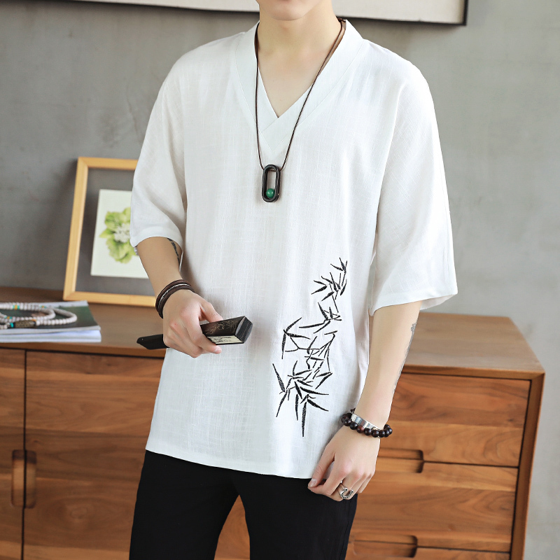 In National Customs Flax Embroidery The new listing Fashion Favourite Free shipping casual black and white streetwear