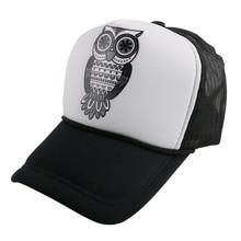 58 CM adjustable mesh men women hip hop baseball cap custom trucker OWl animal pattern fitted adult boy girl snapback hats