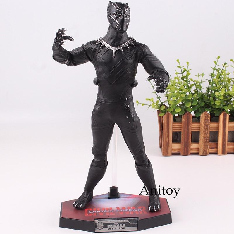 Jouets HC Avengers jouets Avengers Infinity War Figure de panthère noire Figure d'action en PVC jouets Marvel jouets panthère noire 31 cm