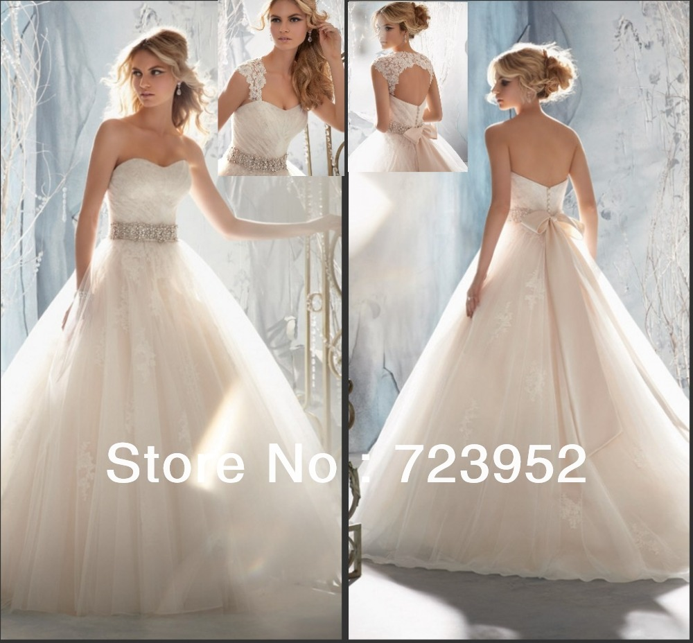 Wedding Dress With Belt Rhinestone | Wedding