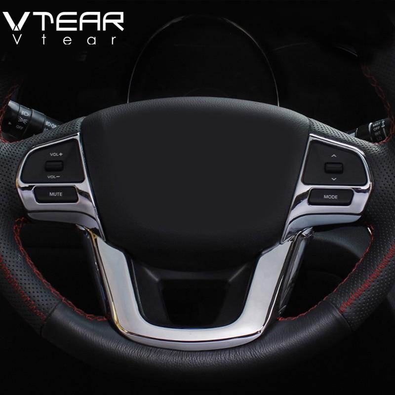 vtear for kia rio steering wheel decoration car interior. Black Bedroom Furniture Sets. Home Design Ideas