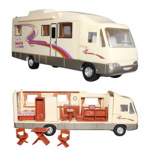 Brand New Motorhome Car Toys Recreational Vehicle(RV) Diecast PVC Pull Back Car Model Toy For Gift/Kids -Free Shipping