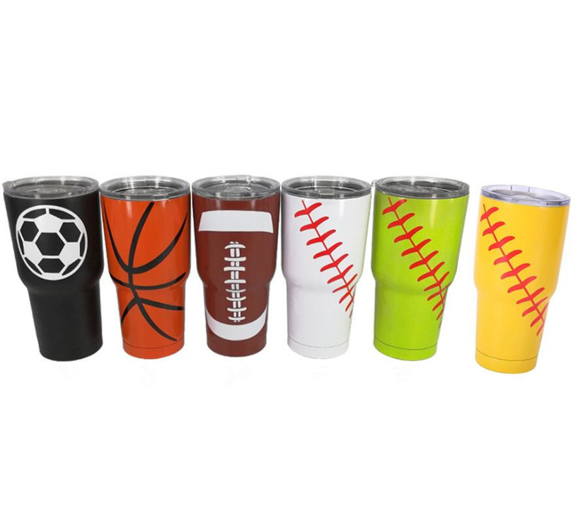 10pcs 30oz Baseball Tumbler Cups Triple Insulated Stainless Steel Double Wall Vacuum Insulated Mugs Beer Cups