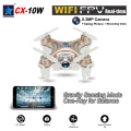 Mini original cx-10w cheerson 4ch 6-axis gyro wifi fpv quadcopter rtf mini rc drone com câmera 0.3mp função 3d flips