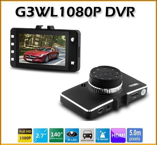ФОТО 2.7-inch LCD Car DVR Camera G3WL Full HD 1080P Recorder Camcorder Vehicle Camera with G-Sensor HDMI Video Recorder