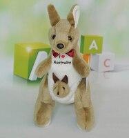 Poupée En Peluche Enfants Jouets Pour Enfants Australien Kangourou Maman et Bébé