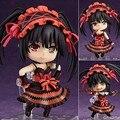 """Nendoroid Anime fecha A vivo Tokisaki Kurumi #466 Brinquedos PVC figura de acción modelo colección de muñecas Kids 4 """" 10 cm"""