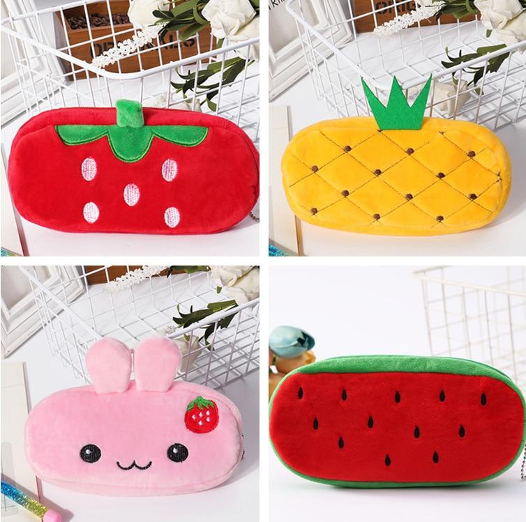 Fruit Plush Coin Purse Bag strawberry orange pineapple water melon Girls Pouch