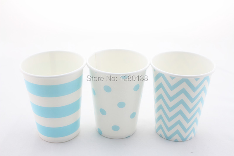 Free Shipping <font><b>Light</b></font> Baby <font><b>Blue</b></font> Paper Drinking <font><b>Cups</b></font> Disposable <font><b>Blue</b></font> Party Supplies Boy Baby Shower Tabelware 1200pcs/lot