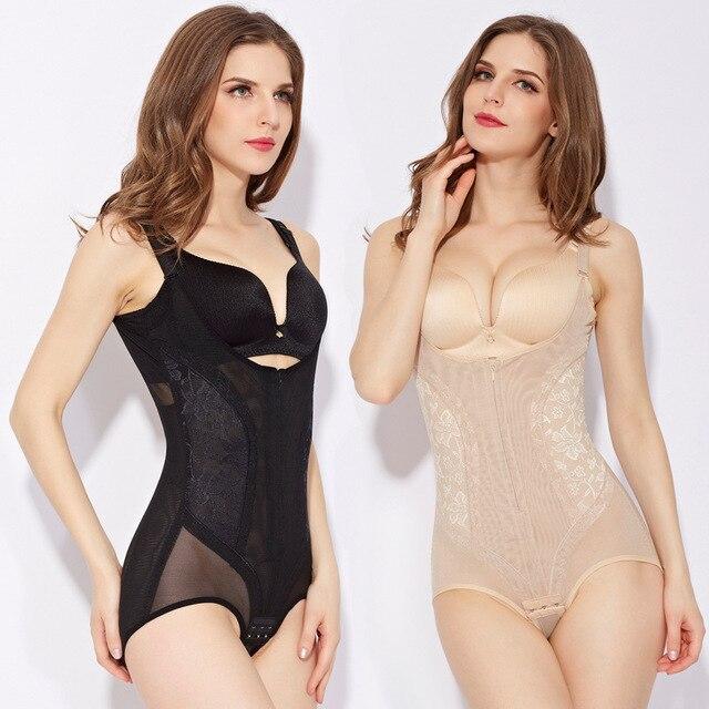 5XL плюс размер женщины управления тела шейперы для похудения талии cincher butt lift боди лифт бюстгальтеры корректирующее белье управления молния нижнее белье
