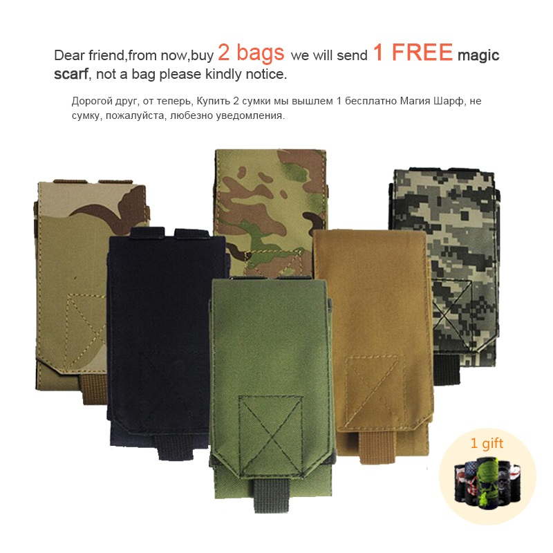 Mens Military Molle Backpack Hanging Sport Pouch Waist Belt Bags Phone Bag