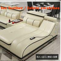 Relojes de piel de vaca auténtica de sofás sofá salón sofá sofás muebles de sala cama suave sofá cama