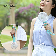 Mini usb hand fan cooling portable fan led light air conditioner cooler adjustable speed heat rechargeable battery fans 200mm