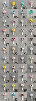 40Pcs Mini Kawaii Retractable Badge Reel High Quality Acrylic Cartoon Nurse Badge Reel Holder Pull ID Card Badge Holder K043