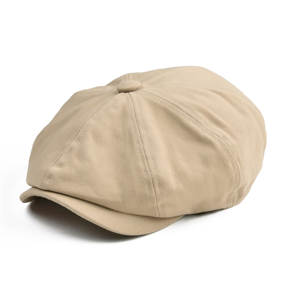 9a273ee6c43 BOTVELA Newsboy Cap Men Women Eight-panel Hat Canvas Cotton Beret Baker Boy Caps  Gatsby