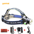 XM-L2 3800LM Waterproof Zoom LED Rechargeable 18650 Battery Headlight Headlamp Head Lamp Light Zoomable Adjust Focus For Bicycle
