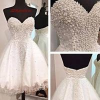 White Luxury Short Homecoming Dresses Mini Women Plus Size 8th Grade Prom Cocktail Semi Formal Graduation Dress