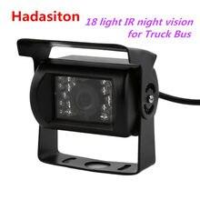 Frente do carro da visão noturna do ir da câmera impermeável do backup do veículo 18/câmera do retrovisor para o caminhão 12-24v/ônibus
