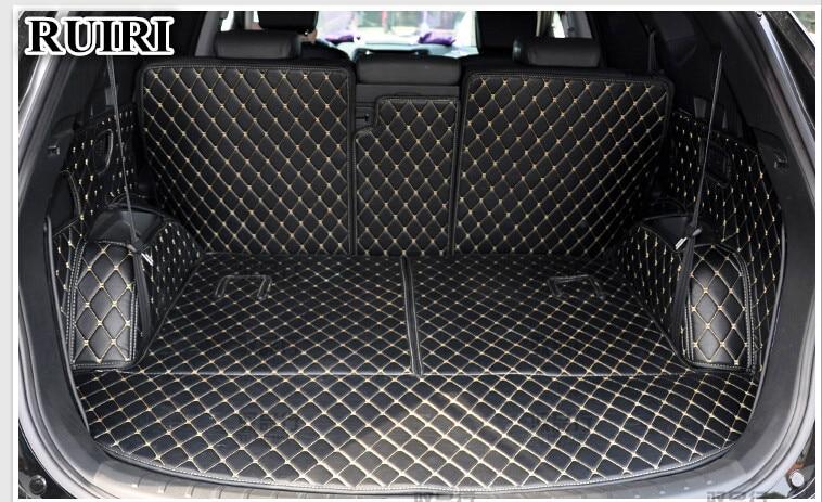Full Set Car Trunk Mats For Hyundai Grand Santa Fe 7 Seats 2018-2013 Waterproof Cargo Liner Boot Carpets For Grand Santafe 2014