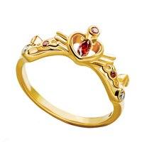 Bahamut Japanese Anime Sailor Moon Tsukino Usagi Princess Serenity 925 Sterling Silver Ring Birthstone