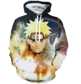 Classic Anime Naruto Hooded Sweatshirts Men Women Long Sleeve Outerwear Naruto and Sasuke 3D Hoodies Galaxy Pullovers