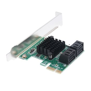 Cards Adapter PCIE SATA 3.0 PCI-E SATA Card PCI E PCI Express SATA Controller 6-Ports SATA3 PCIE X4 Expansion Card
