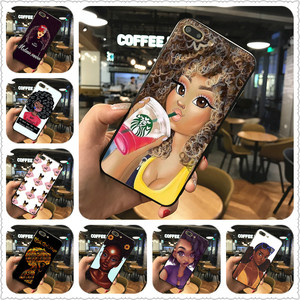 2bunz Melanin Poppin Aba phone Case For iphone 7 8 XS XR XSMAX 11 11Pro Black case For Samsungs7 s8 s9 Case Cover(China)