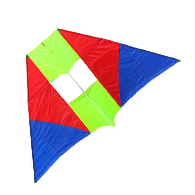 Nouvelle arrivée de haute qualité 115 pouces énormes cerfs-volants de haute qualité en Nylon doux 3D Delta spécial cerf-volant envoyer la ligne de poignée facile à voler
