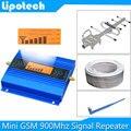 ¡ Venta caliente! Mini LCD GSM 900 Mhz 2G Repetidor Amplificador de Señal de Teléfono Móvil GSM Repetidor de Señal Celular Amplificador + Cable + antena