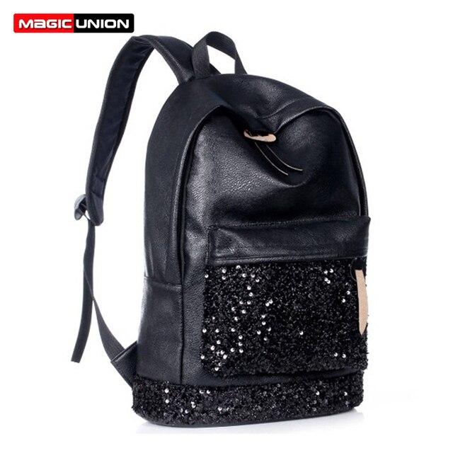 4832fc374fe7 Волшебный союз Новый 2018 Модный женский рюкзак большая корона вышитые  блестки рюкзак оптовая продажа женский кожаный