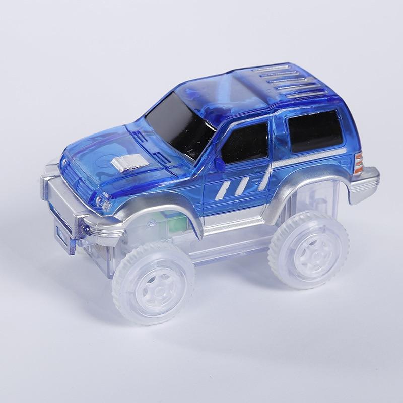 165 шт./лот Magic pista электроники вагон изгиб Flex светятся в темноте Ассамблея игрушка DIY гонки S комплект с 1 шт. водить автомобиль