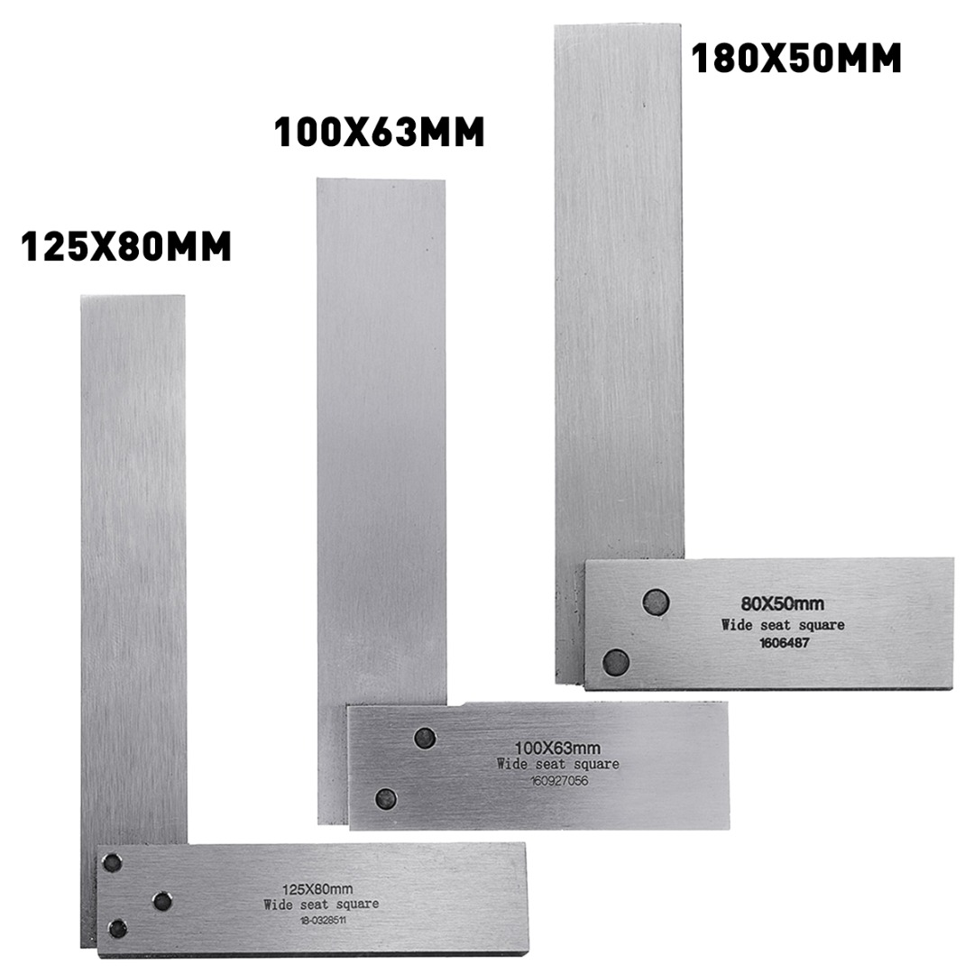 New Machinist Square Rulers 90 Degree Right Angle Ruler Engineer Precision Ground Hardened Steel Angle Ruler Measure Tools free shipping square rectangular inside and outside inspection feet angle of yin and yang angle ruler angle ruler zjc l