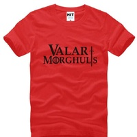 Game Of Thrones Valar Morghulis Printed T Shirt Men Fashion Short Sleeve O Neck Cotton Men