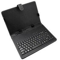 送料無料10インチマイクロusbレザータブレットキーボードケースカバー用10