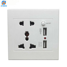 AC 110-250V 10A USB Wall Socket Universal Wall Socket Panel With 2 USB Port Plug Charger Switch Power Outlet EU US UK AU