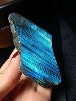 Rare! Beautiful natural blue color labradorite crystal original moonstone natural stones and minerals 131g