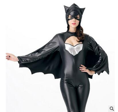 Classic Design Cartoon Clothing Bat woman Fullbody Zentai Suit Superwoman Cosplay Costume