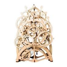 Robud Lapset Aikuiset Lelut Kokoonpano Siirrettävä kellon kellot Clockwork Puinen malli Rakennusosat Lelut Harrastukset Gift for H70