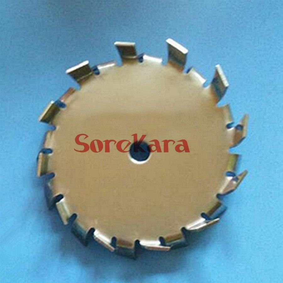 Diameter 350mm Bore 8mm Stainless Steel Stir Blade Impeller Tooth Type Dispersed Disc Gear 30 brew paddle stainless steel stir