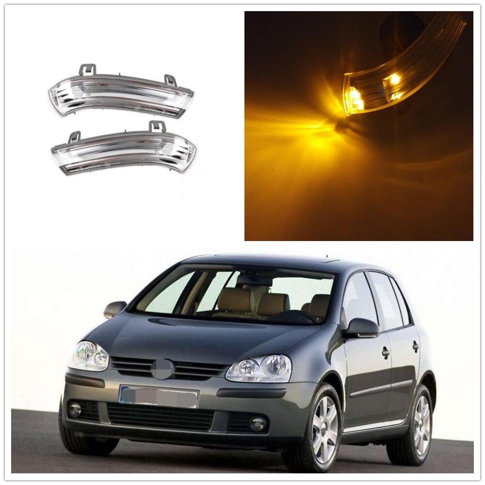 LED indicador de espejo de ala derecha izquierda Kit de Señal de Vuelta para VW 1K0949101 1K0949102