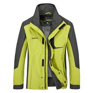 Image 3 - Combinaison veste + pantalon de Ski de plein air pour homme, tenue de Sport très chaude, coupe vent, imperméable à leau, pour faire du Camping, ensemble thermique épais