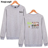 Wangcangli 2018 Beatles Bluzy Mężczyzn Hip Hop Streetwear Długim BRANG mans Swetry I Bluzy męskie Odzież Plus Rozmiar 4xl