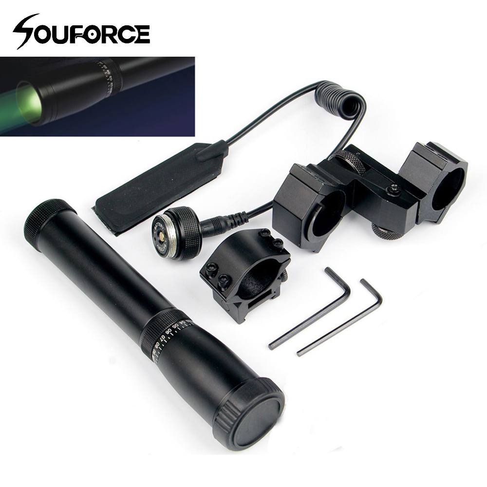 Long Distance ND3X 30 Flashlight Night Vision Green Laser Designator with Adjustable Scope Mount and Momentary Pressure Button цена и фото